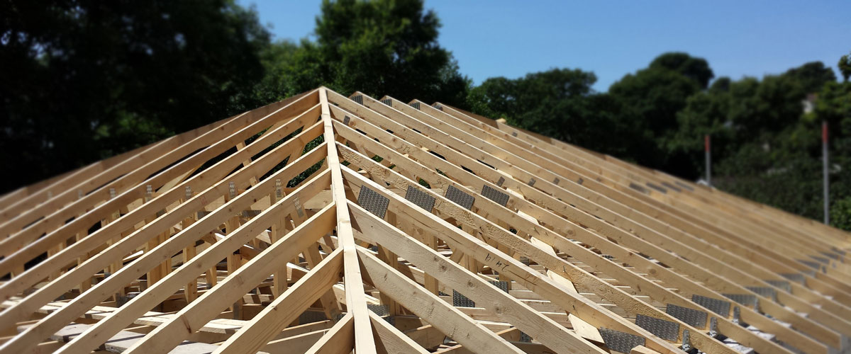 Falmouth Builders: Roofing Construction on a new build