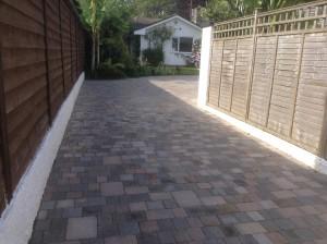 trad brick driveway front view